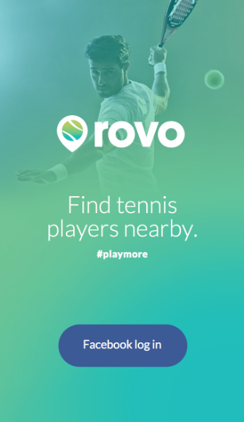 Rovo - Find Tennis players nearby Facebook Login