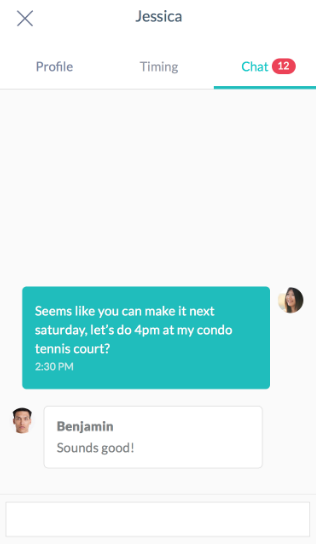 Rovo - Find Tennis players nearby chat with players