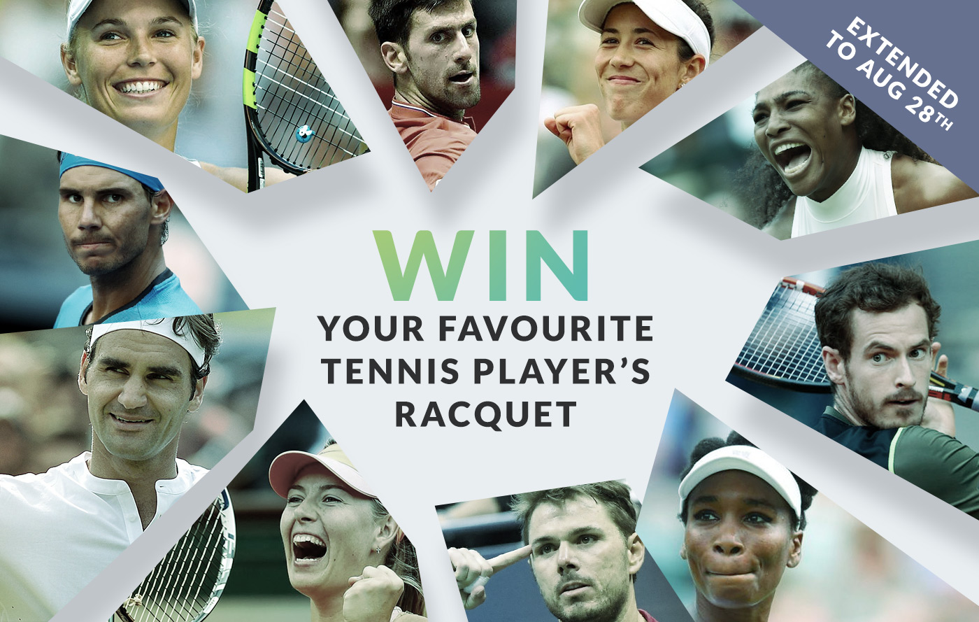Win your favourite tennis player's racquet