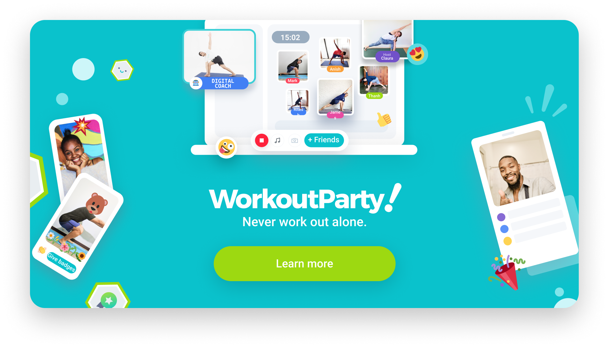 WorkoutParty! Workout anytime, anywhere