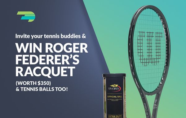 *Contest Closed* Invite your Tennis Buddies & Win Roger Federer's Racquet!