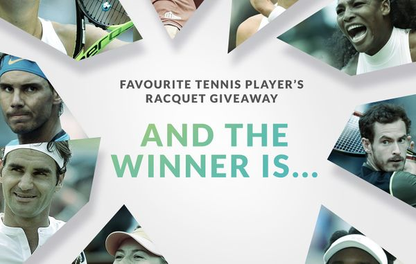 Announcing the winner of our favourite player's racquet giveaway!