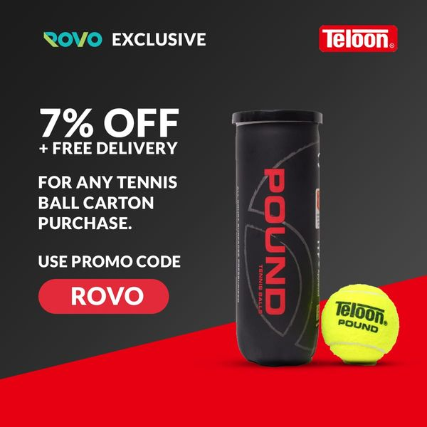 (Rovo Exclusive) 7% off & free shipping for Teloon Tennis balls in Singapore
